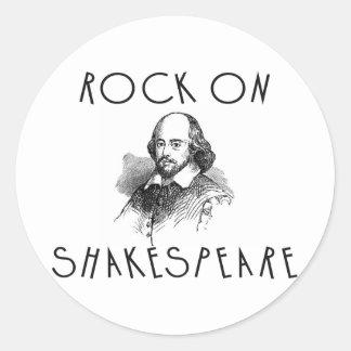 Rock On Shakespeare Round Stickers