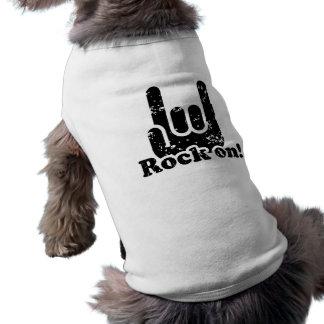Rock On Sleeveless Dog Shirt