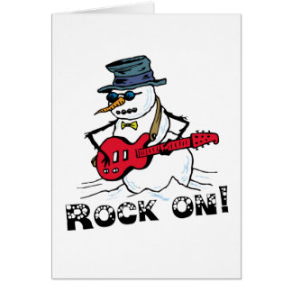 Rock On Snowman Cards