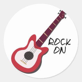 Rock On Round Sticker