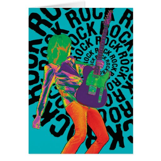 Rock On With Your Bad Self! Card