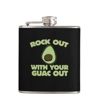 Rock out with your guac out hip flask