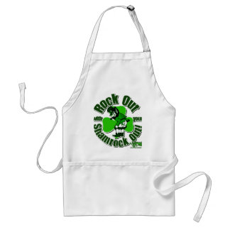 Rock Out With Your Shamrock Out! Standard Apron