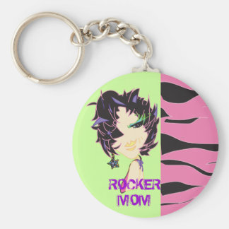 Rock out your keys! basic round button key ring