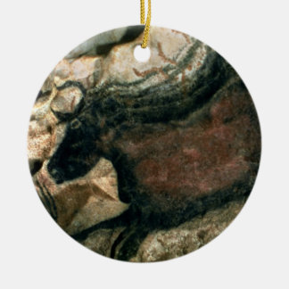 Rock painting of a black bull, c.17000 BC (cave pa Christmas Ornament
