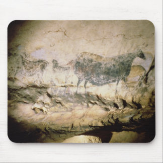 Rock painting of a black cow, c.17000 BC Mouse Pad