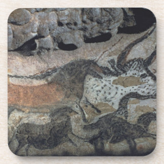 Rock painting of a bull and horses, c.17000 BC (ca Coaster