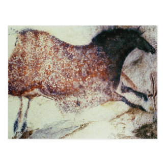 Rock painting of a galloping horse, c.17000 BC Postcard