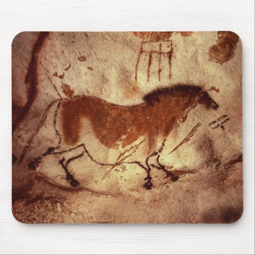 Rock painting of a horse, c.17000 BC Mousepads