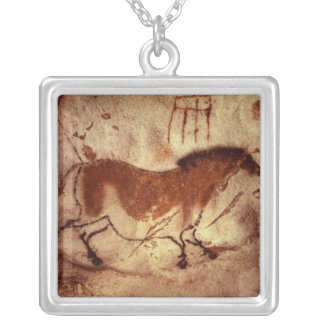 Rock painting of a horse, c.17000 BC Silver Plated Necklace