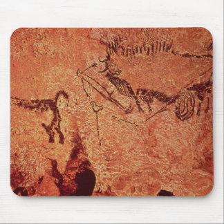 Rock painting of a hunting scene, c.17000 BC Mouse Pad