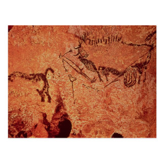 Rock painting of a hunting scene, c.17000 BC Postcard