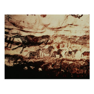 Rock painting of a leaping cow postcard