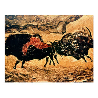 Rock painting of bison, c.17000 BC Postcard