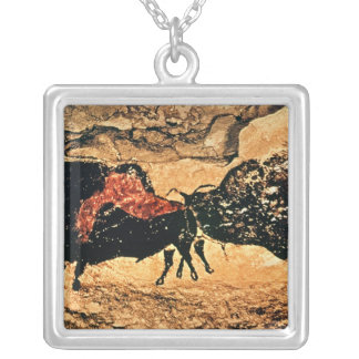 Rock painting of bison, c.17000 BC Silver Plated Necklace