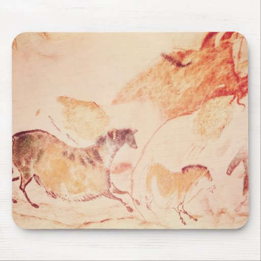 Rock painting of horses, c.17000 BC Mousepads