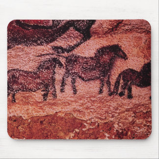 Rock painting of tarpans , c.17000 BC Mouse Mat