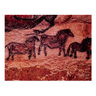 Rock painting of tarpans c 17000 BC Post Cards