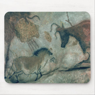 Rock painting showing a horse and a cow, c.17000 B Mouse Pad