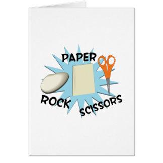 Rock Paper Scissors Card