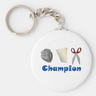 Rock Paper Scissors Champ Key Chain