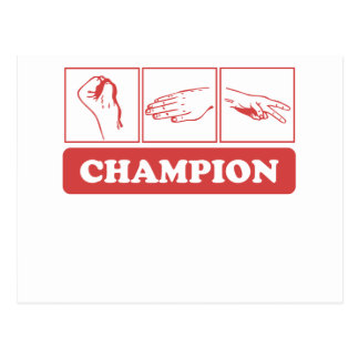 Rock Paper Scissors Champion Post Cards