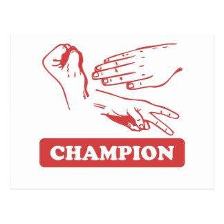Rock Paper Scissors Champion Post Card