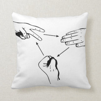 Rock Paper Scissors Cushion