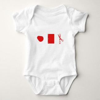 rock paper scissors for baby baby bodysuit