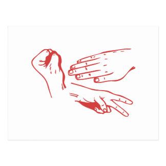 Rock Paper Scissors Hands Post Card