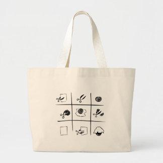 rock-paper-scissors large tote bag