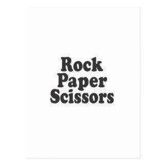 Rock Paper Scissors Postcard
