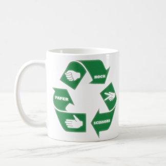 Rock Paper Scissors ~ Recycle! Mug