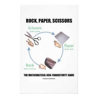 Rock Paper Scissors Rochambeau Stationery Design