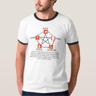 Rock paper scissors t-shirts