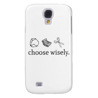 Rock Paper Sissors Choose Wisely Galaxy S4 Case
