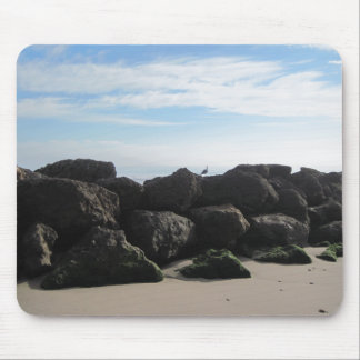 Rock Pile on Ventura's Beach Mouse Pad
