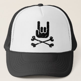 Rock Pirate Trucker Hat