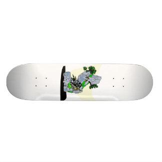 Rock Planting Bonsai Graphic Image Skate Board