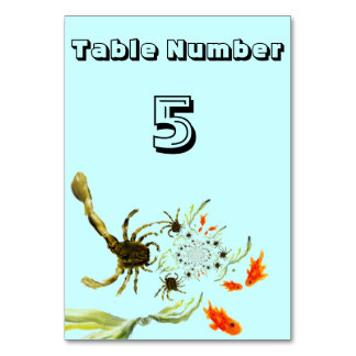 Rock Pool Crabs and Fish fun Table Cards