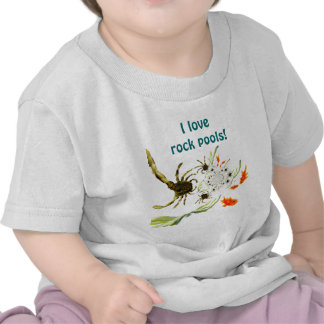 Rock Pool crabs and fish fun T-shirts