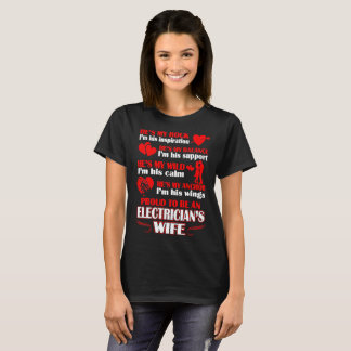 Rock Proud An Electricians Wife Tshirt