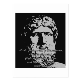 Rock Quotes - Plato Postcard
