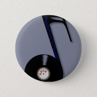 Rock Record Note 6 Cm Round Badge
