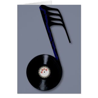 Rock Record Note Card