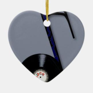 Rock Record Note Ceramic Heart Decoration
