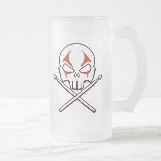 Rock & Roll Beer Mug Heavy Metal Drummer Glass