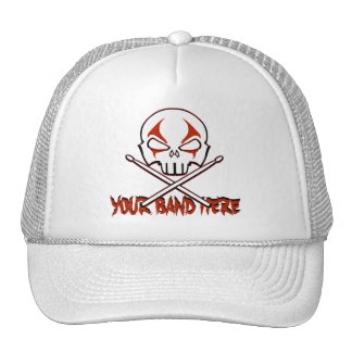 Rock & Roll Cap Custom Heavy Metal Drummer Caps