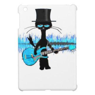 Rock Roll Cat Plays His Blue Guitar iPad Mini Cases