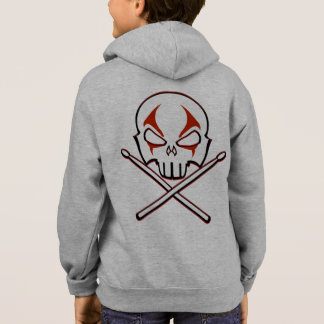 Rock & Roll Drummer Kid's Hoodie Heavy Metal Shirt